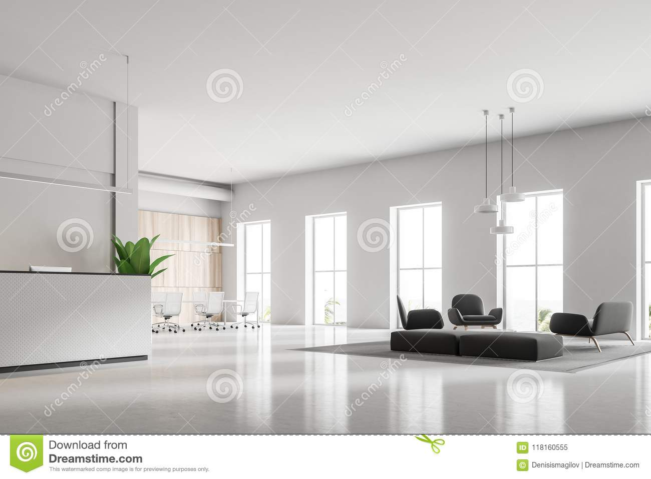 Pleasant White Reception And Waiting Room Stock Illustration Pabps2019 Chair Design Images Pabps2019Com