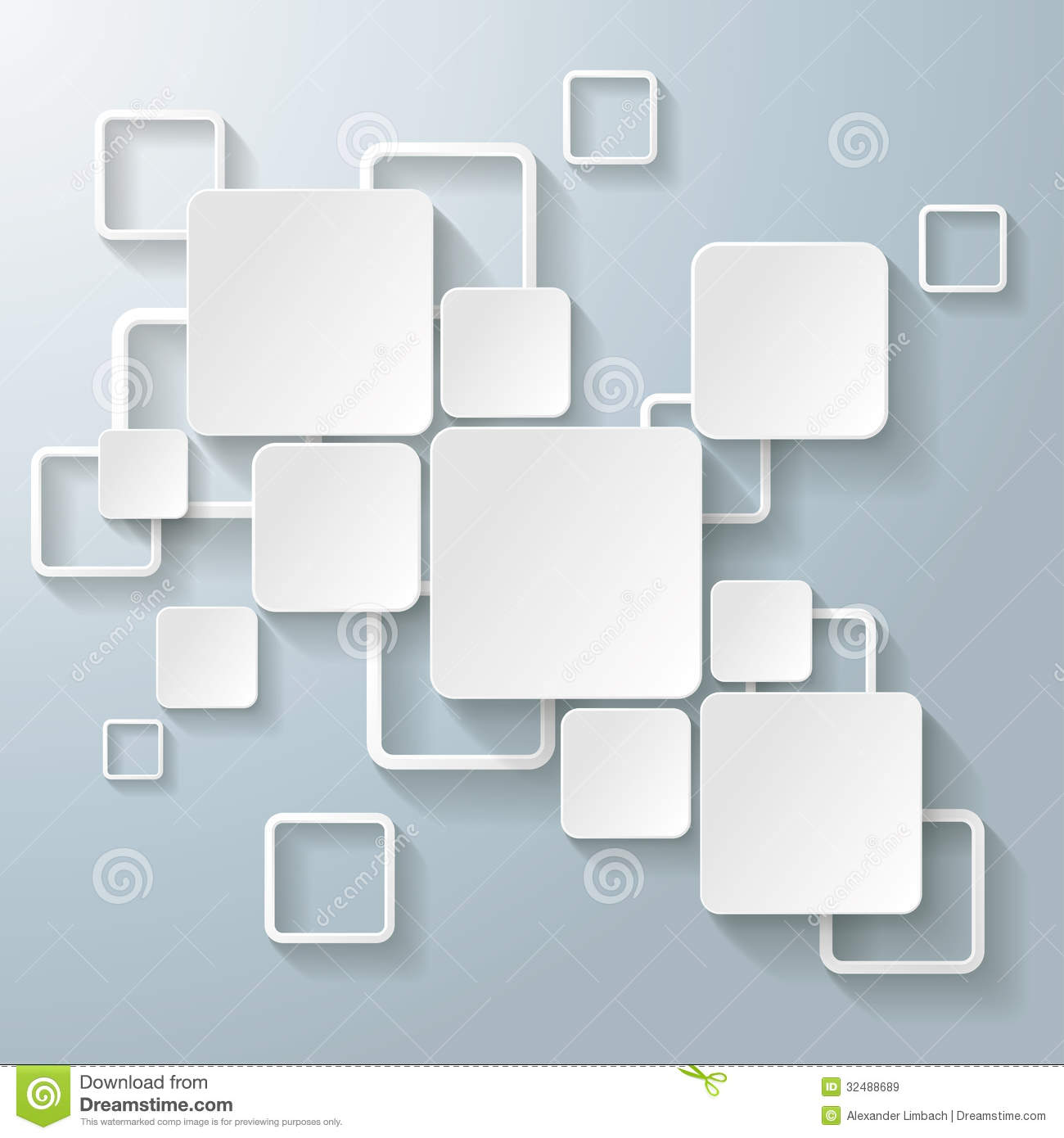White Rectangle Squares Royalty Free Stock Images Image