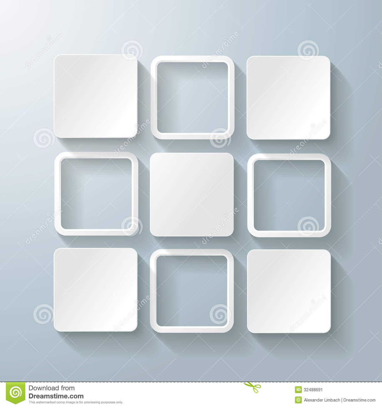 Infographic design on the grey background eps 10 vector file - White Rectangles Squares Design 5 Options Stock Image