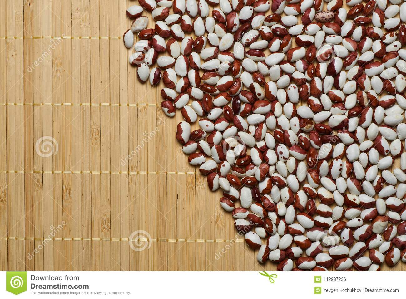 White red beans background