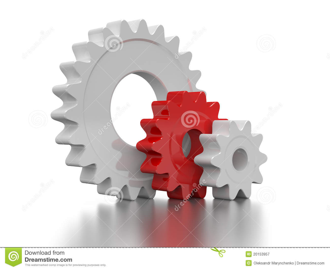 White And Red Gear Stock Illustration Illustration Of