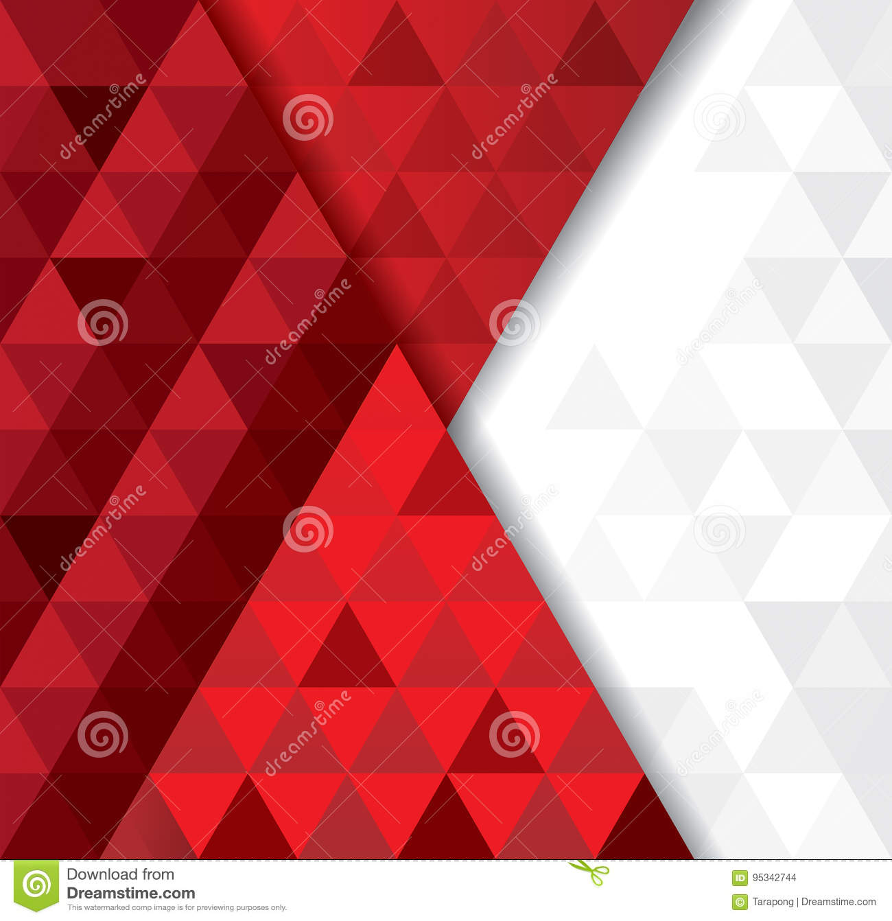 Red Book Cover Pattern : White and red geometric pattern abstract background