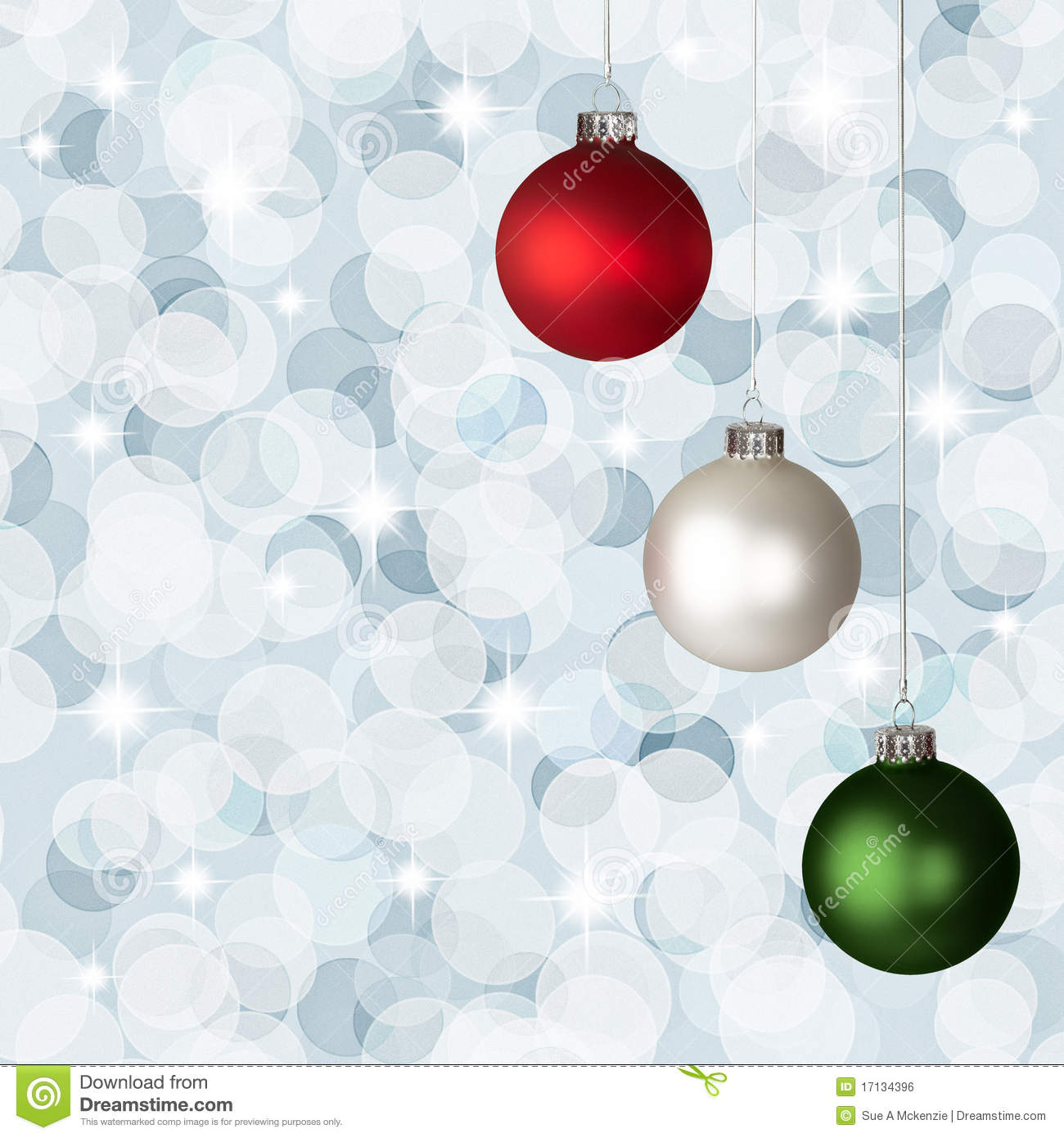 White red green christmas ornaments silver bokeh royalty for Red white green christmas decor