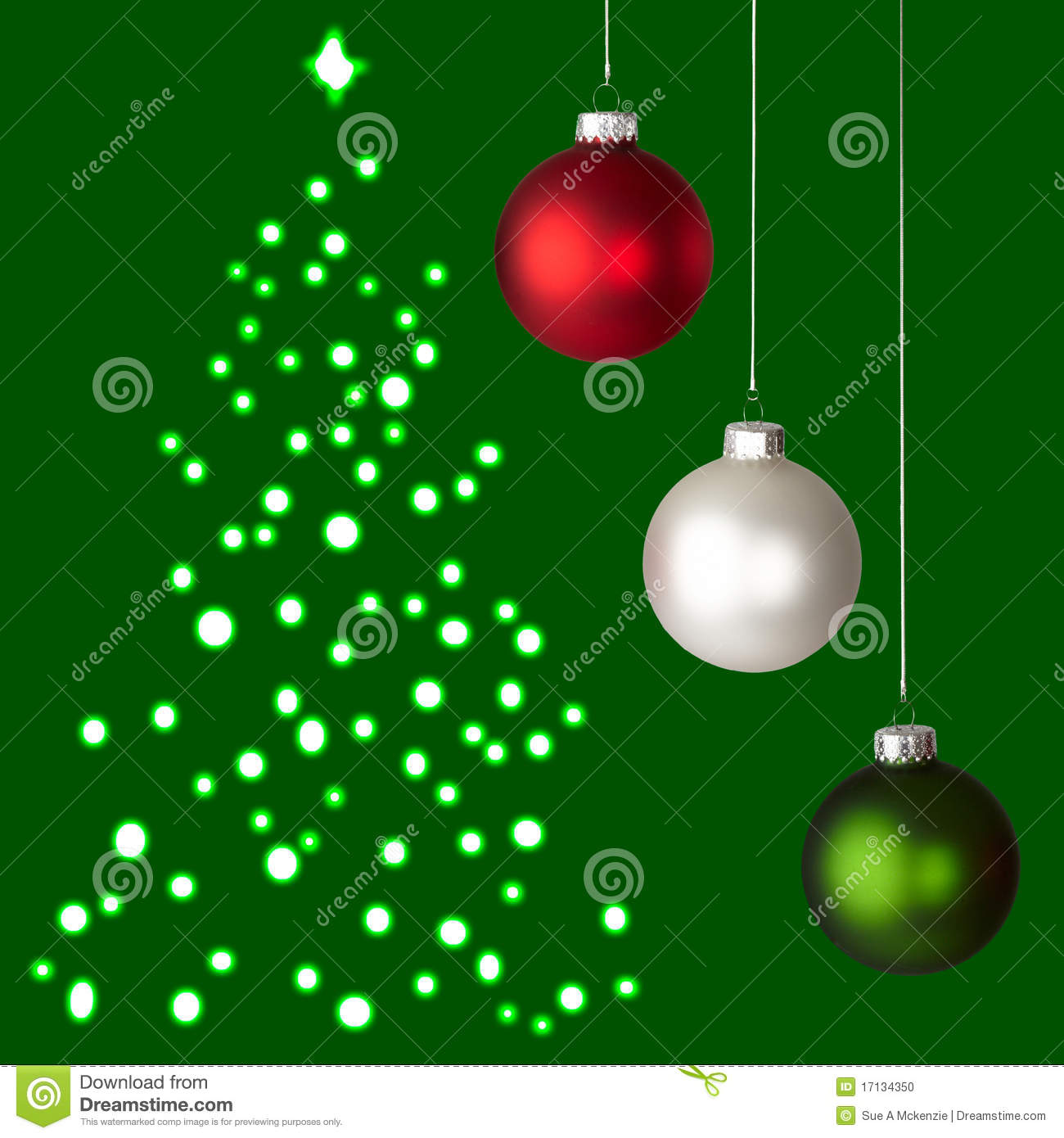 Red green and white christmas ornaments - White Christmas Tree With Red And Green Decorations Photo 21
