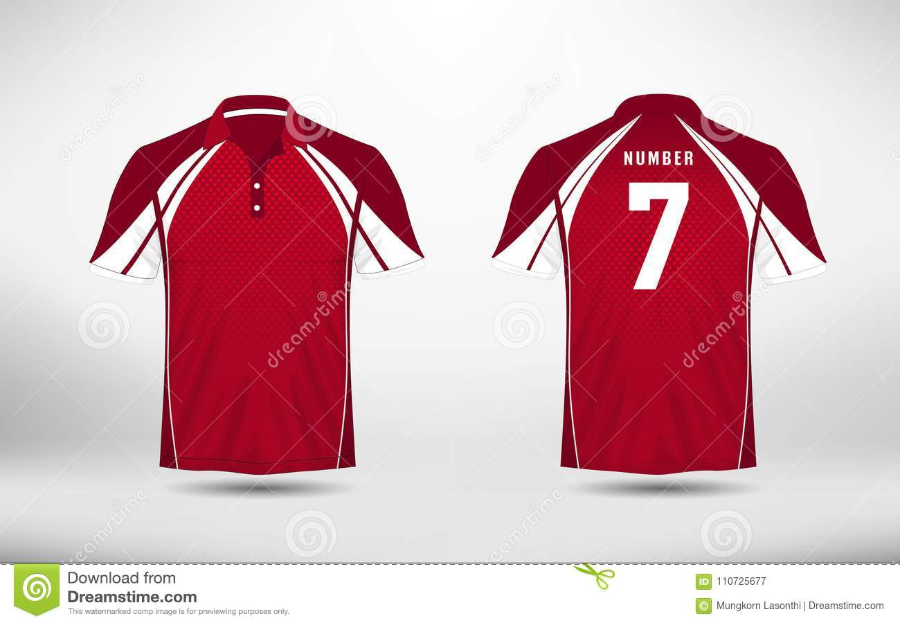White And Red Lines Layout Football Sport T Shirt Kits Jersey
