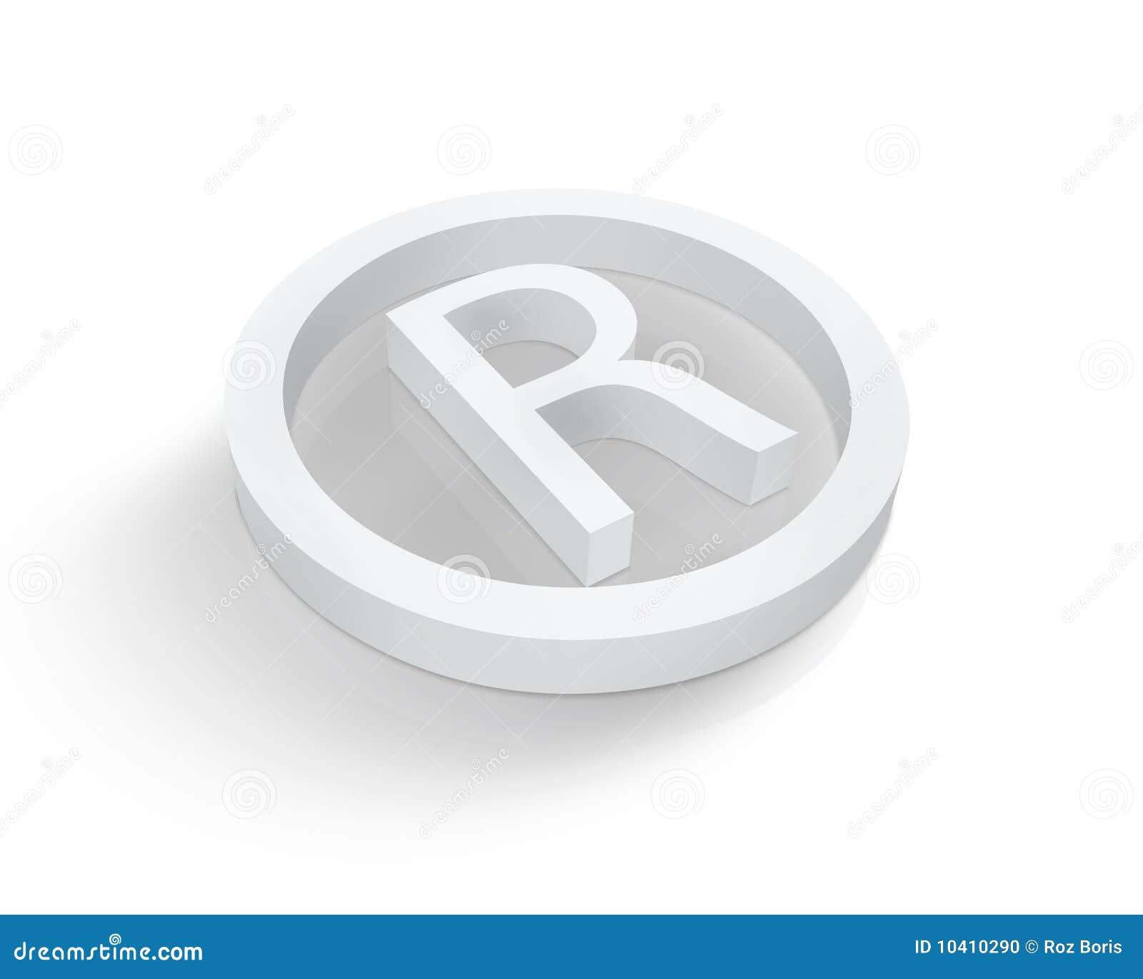 White registered trademark symbol stock illustration white registered trademark symbol biocorpaavc Gallery