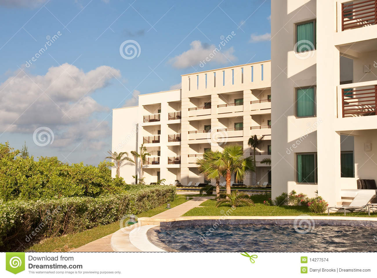 White resort hotel balconies stock images image 14277574 for Hotels with balconies