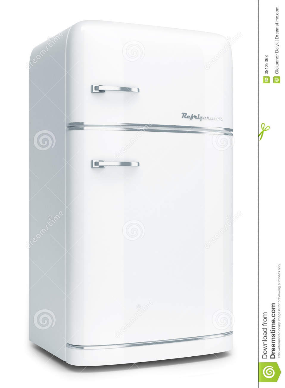White Retro Refrigerator Royalty Free Stock Photos - Image: 38129368 | {Kühlschrank retro 24}