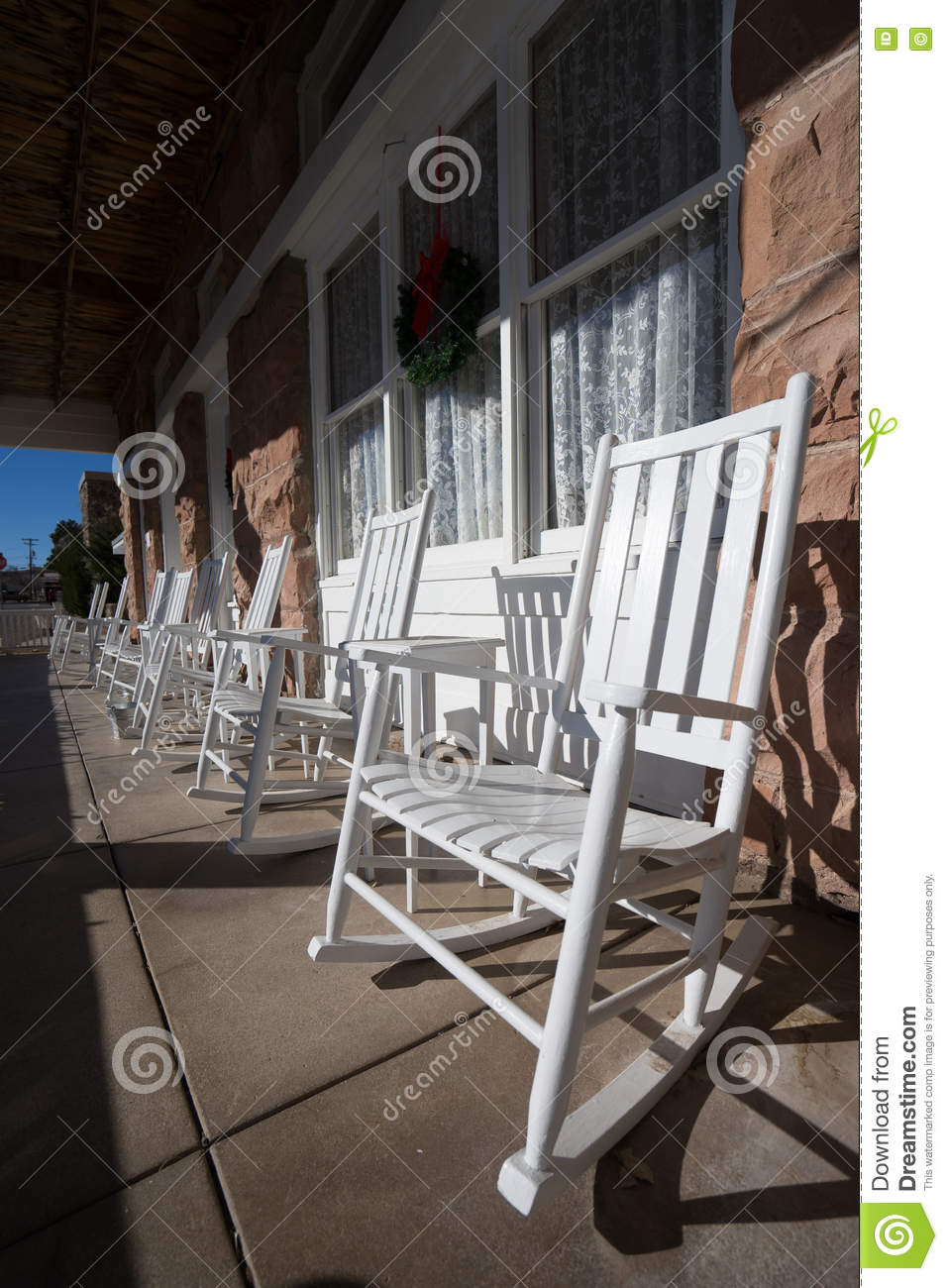 Astounding White Rocking Chairs On Patio Stock Photo Image Of Rocking Gmtry Best Dining Table And Chair Ideas Images Gmtryco