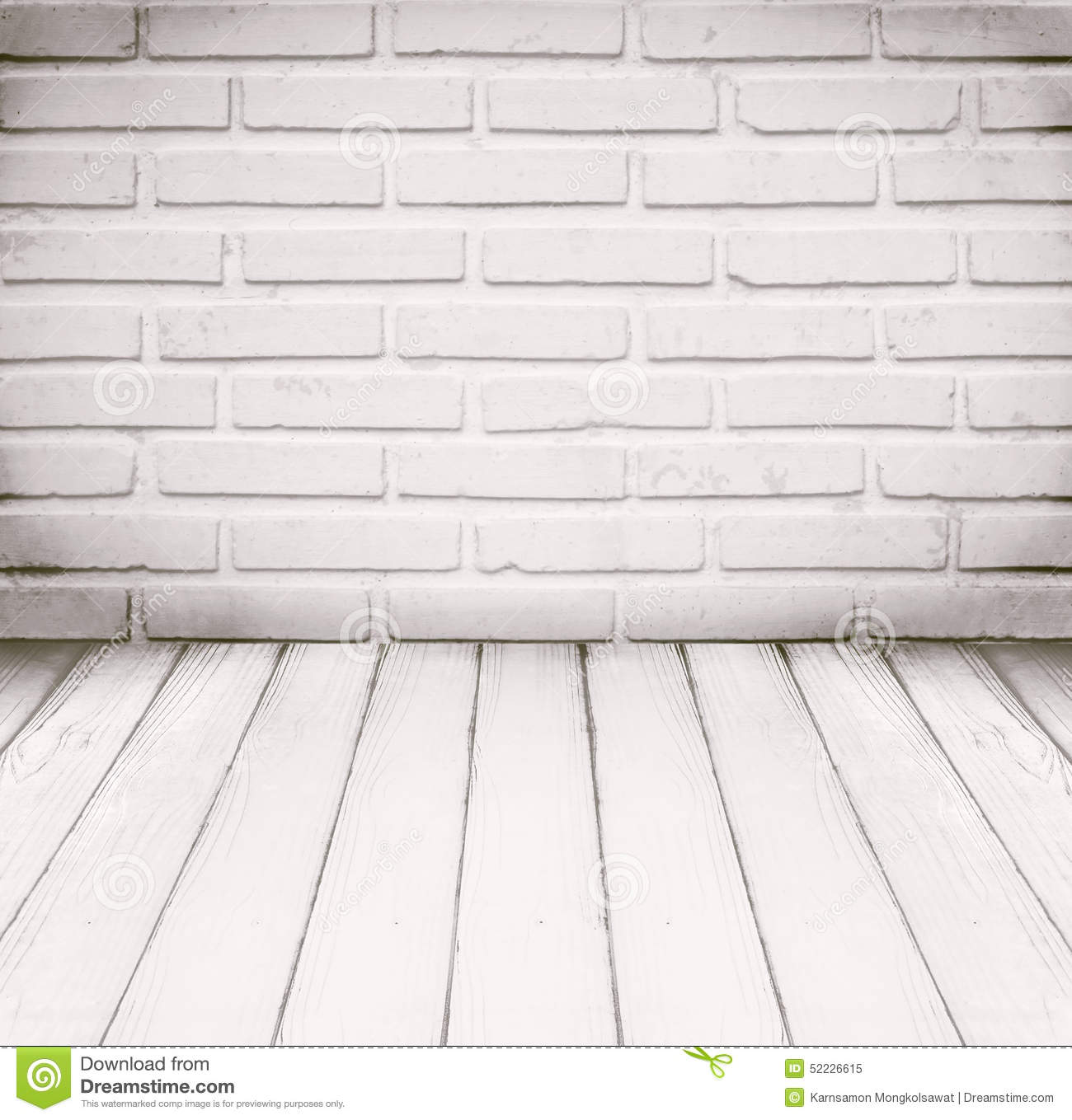royalty free stock photo download white room brick wall and wood floor for background