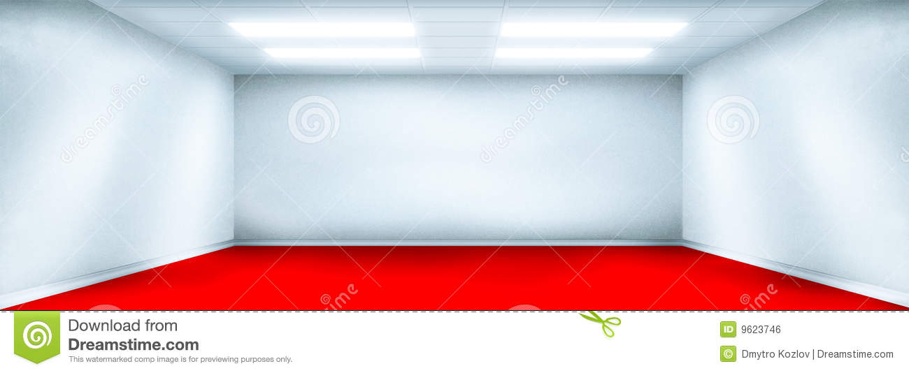 White Room With Red Floor Stock Illustration Image Of