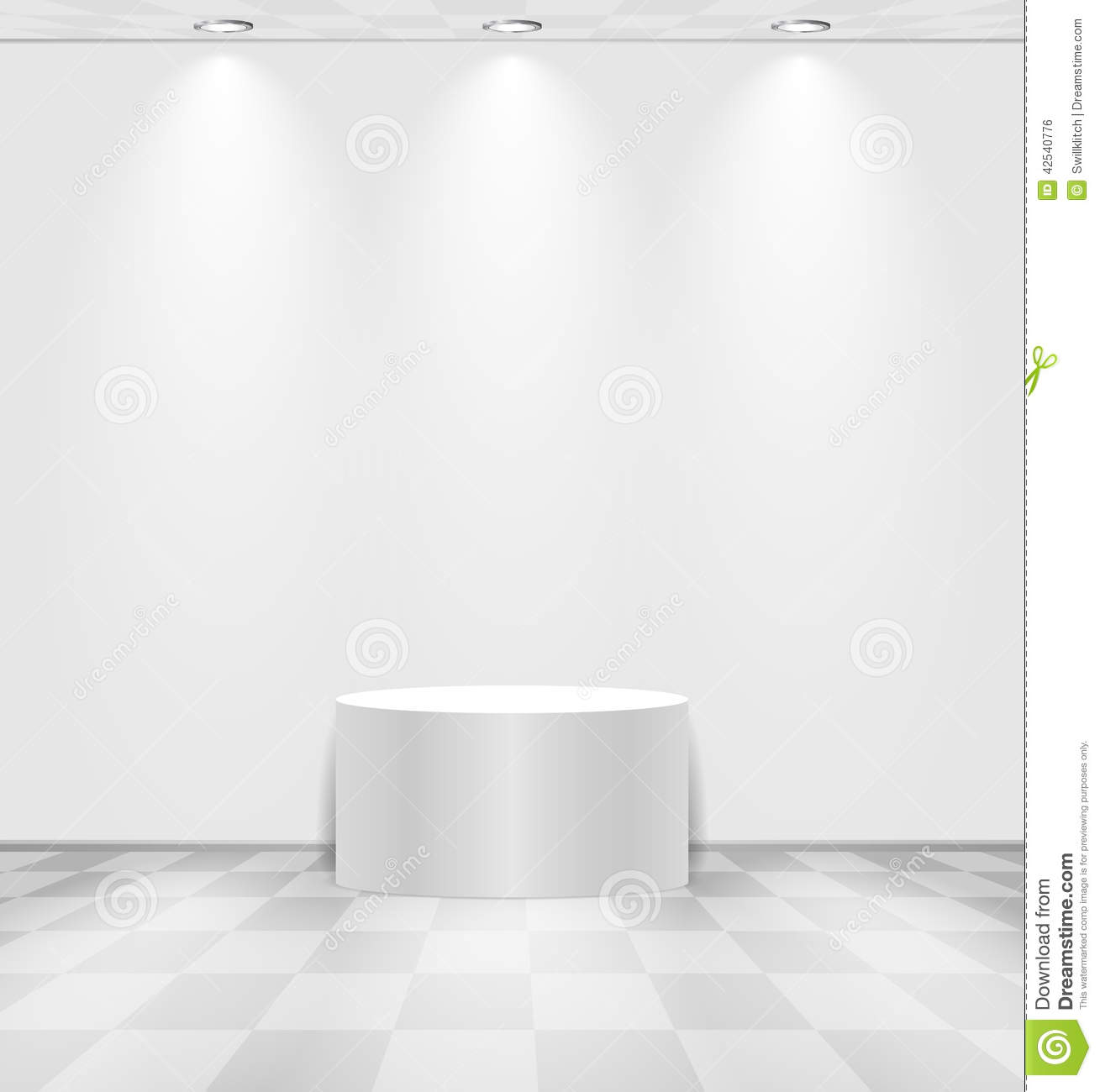 White Room With Round Stage Stock Vector Image 42540776