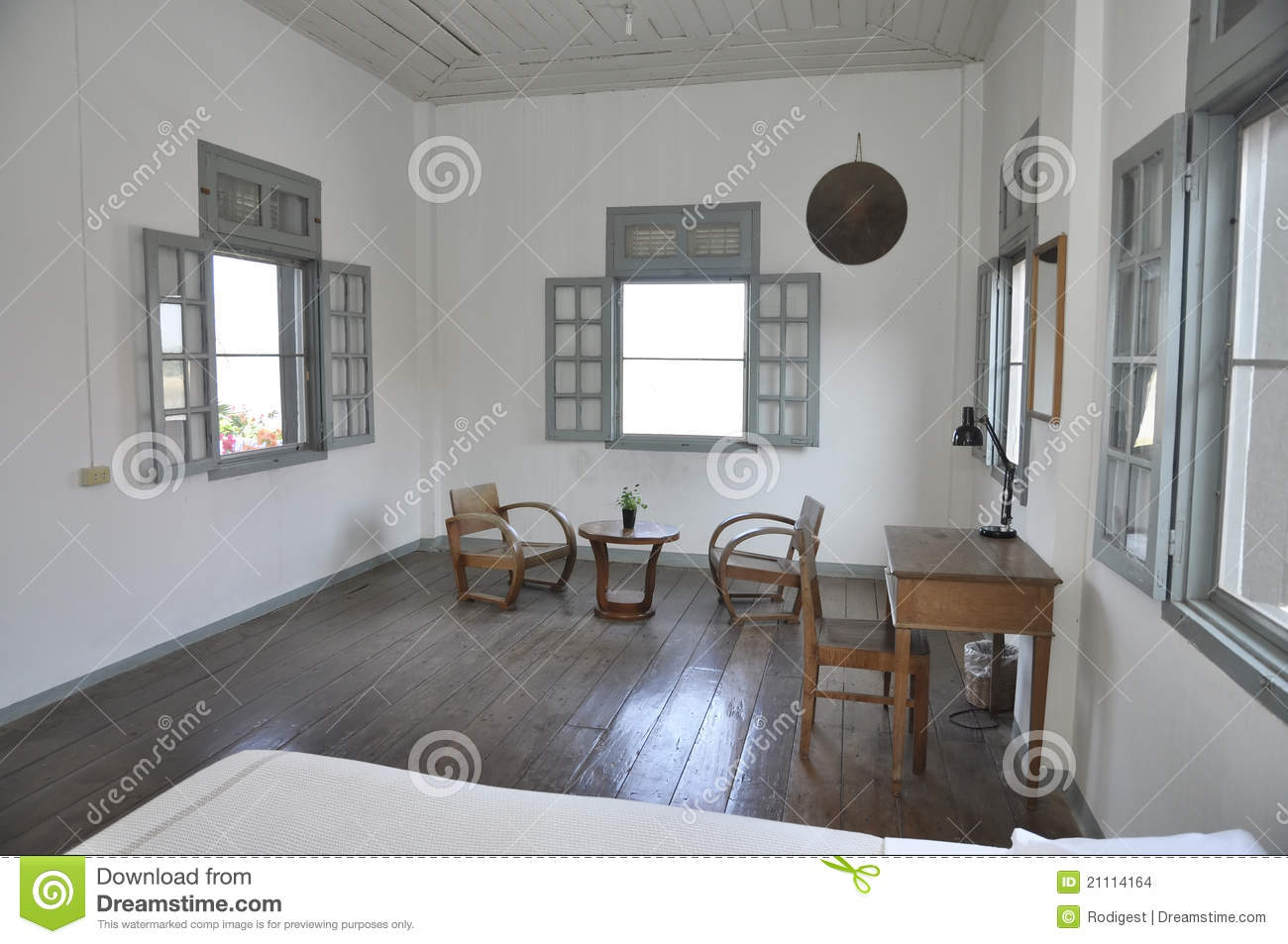 White room table chair wood set stock images image 21114164 for Bedroom designs middle class