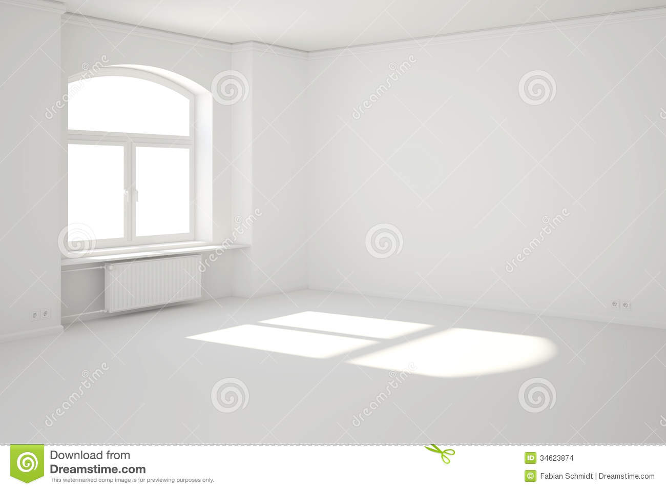White Room With Window And Sunbeam Stock Images Image