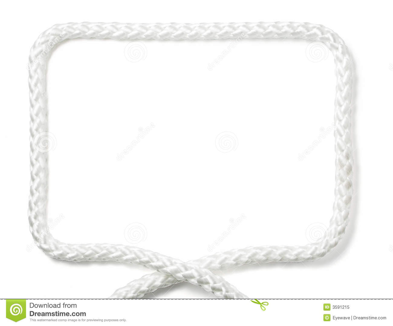 White rope frame stock image image of fill decorative - Corde decorative ...