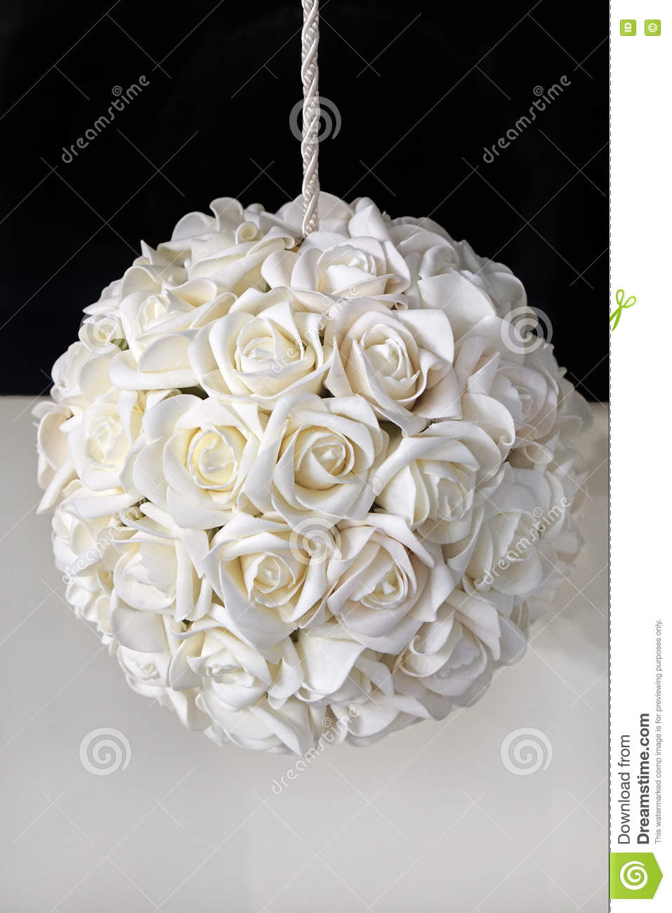 White Rose Ball Stock Image Image Of Decoration Flower 70712843