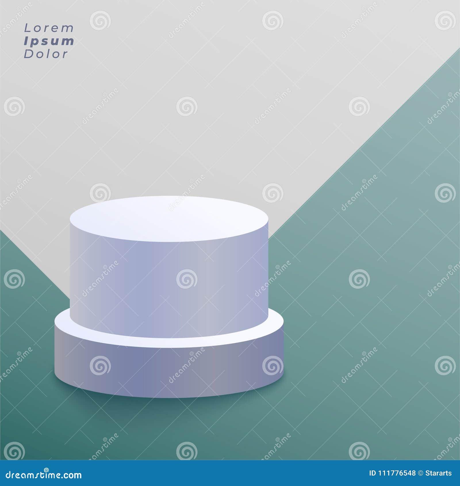 White round podium vector background
