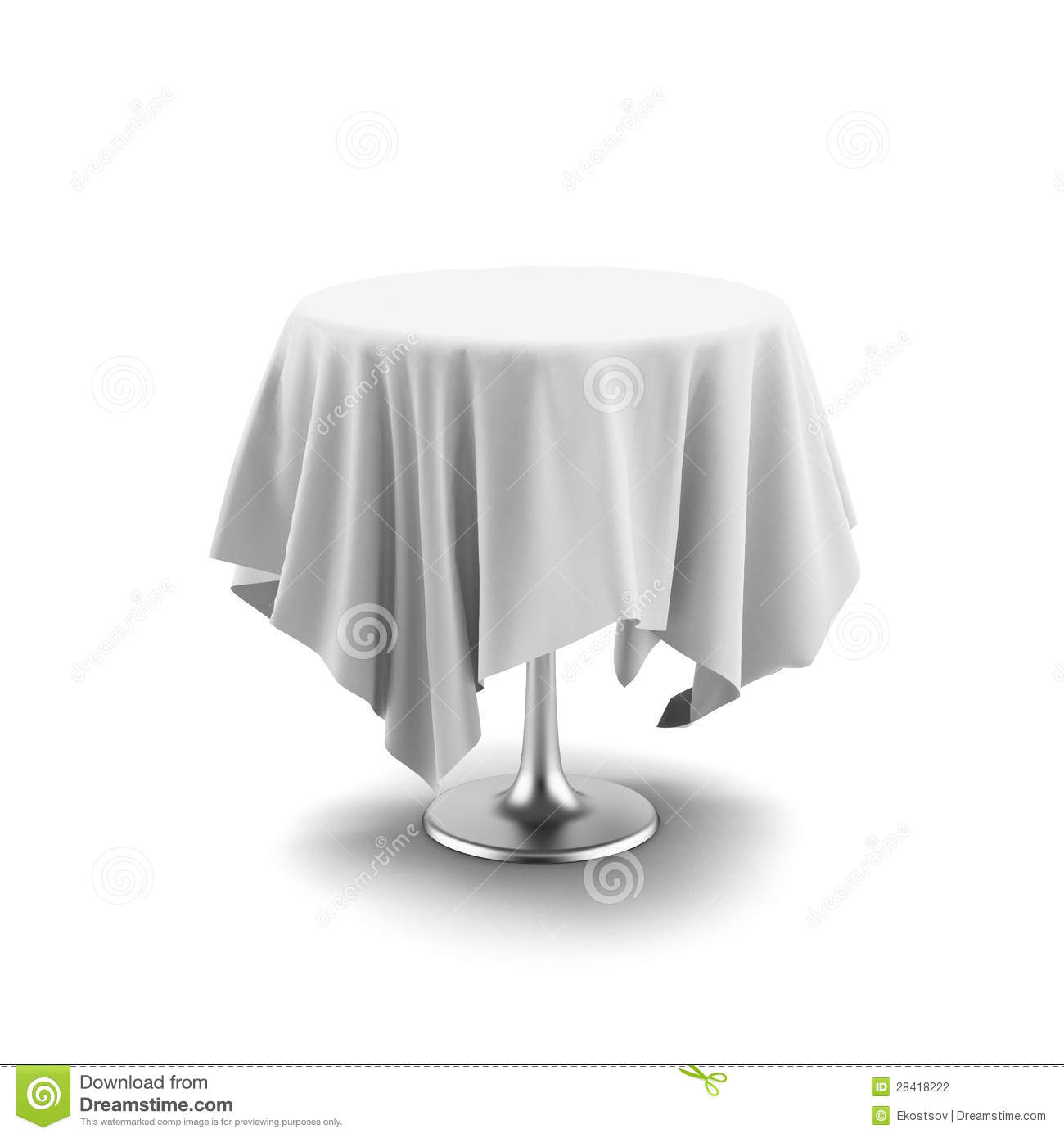 Table Cloth For Round Table White Round Table With Cloth Stock Vector Image 43225970