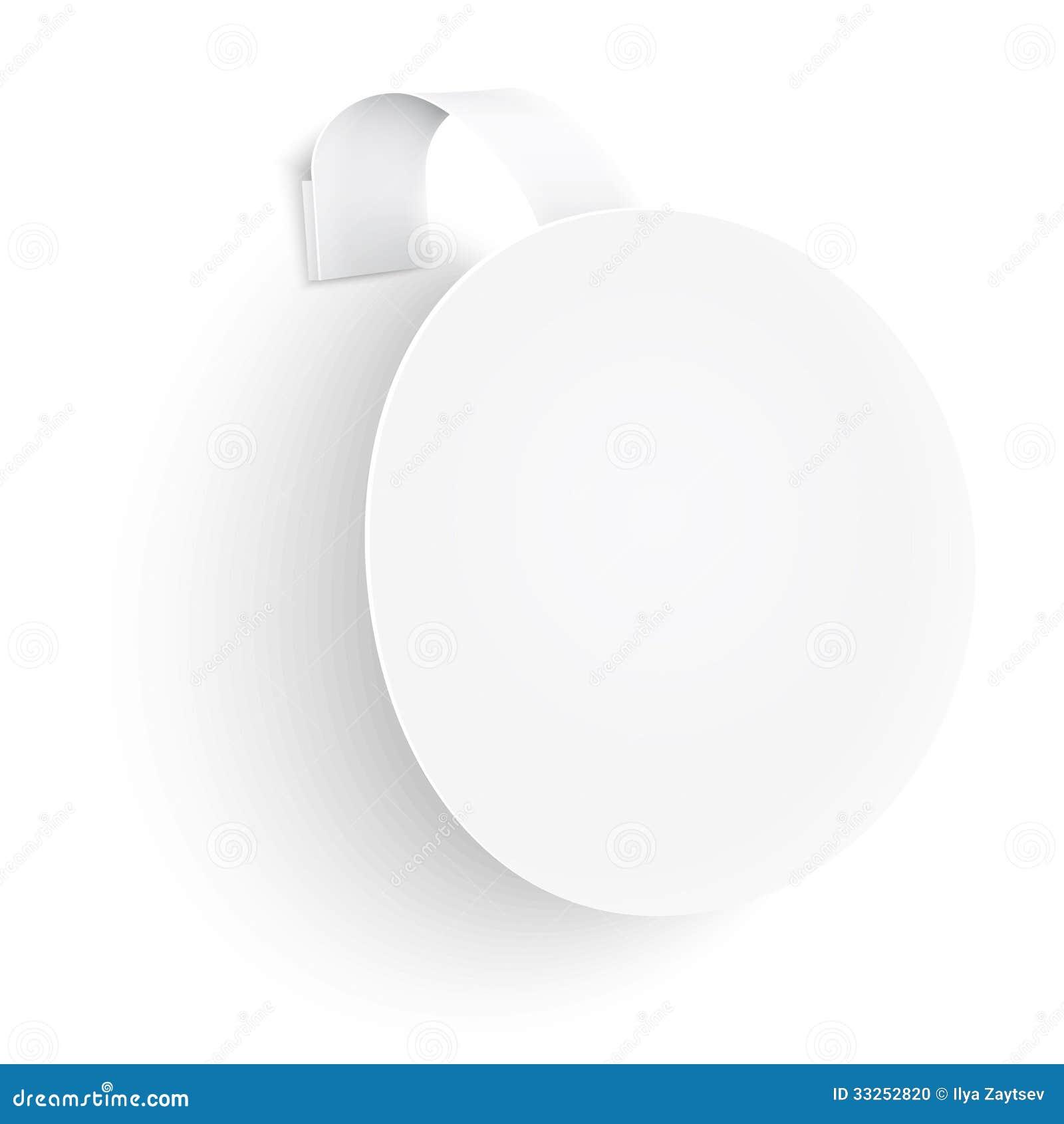 White Round Wobbler On Background Stock Photo