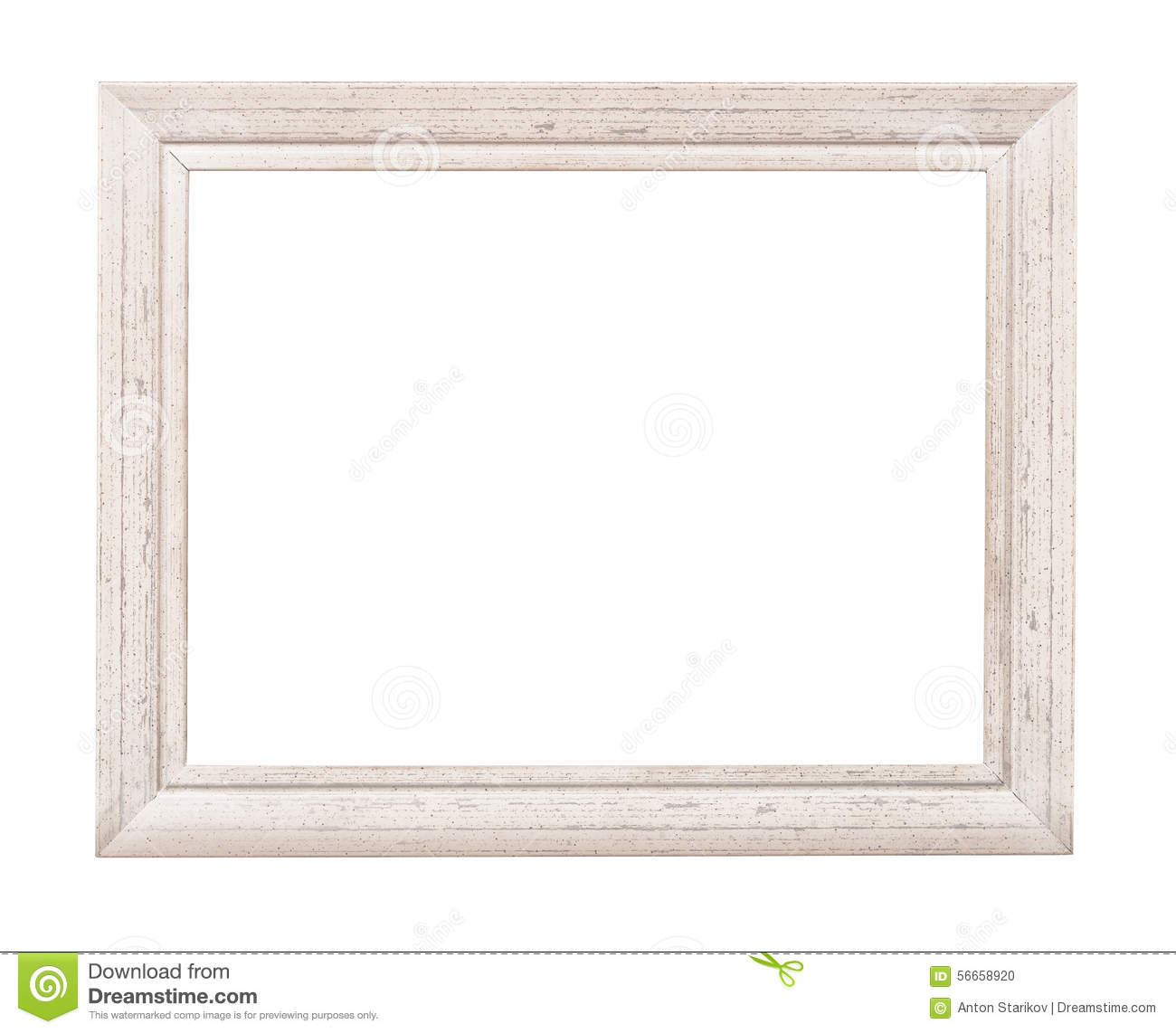 white rustic picture frame stock photo