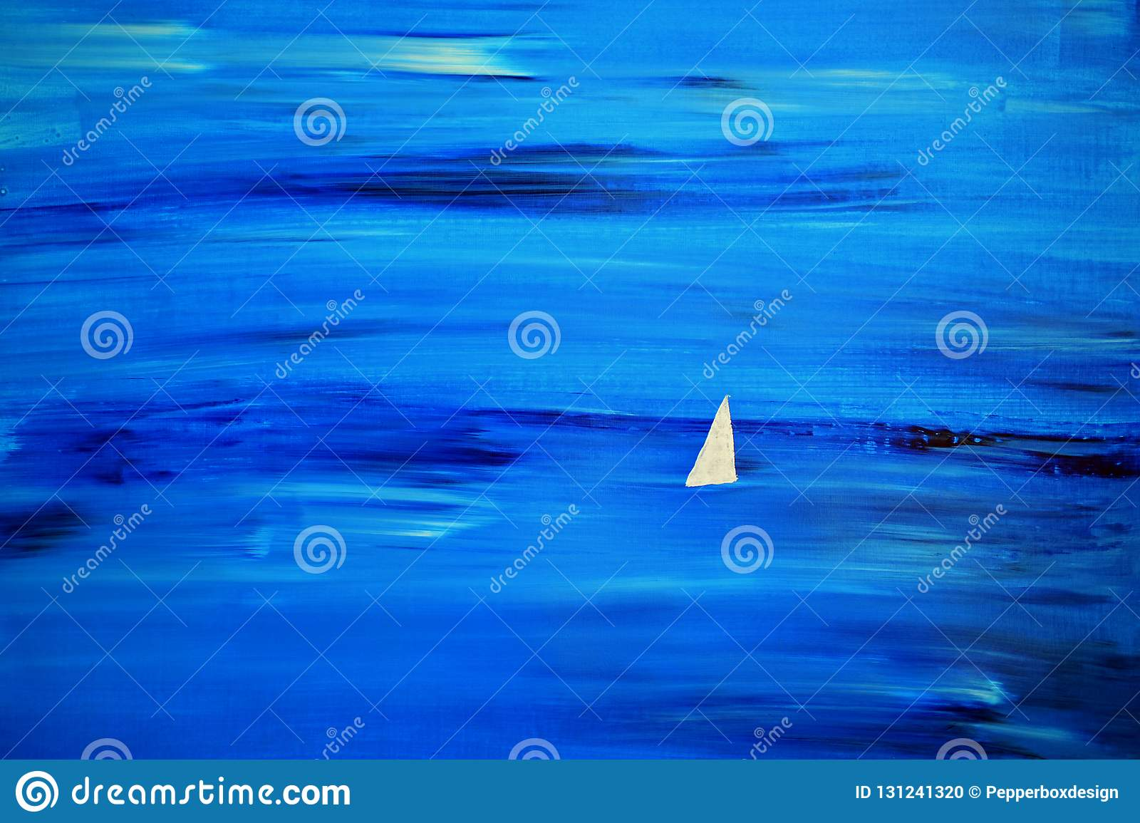 White Sail at Sea