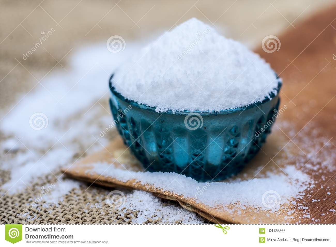 Table Salt Also Known As Sodium Chloride Stock Photo