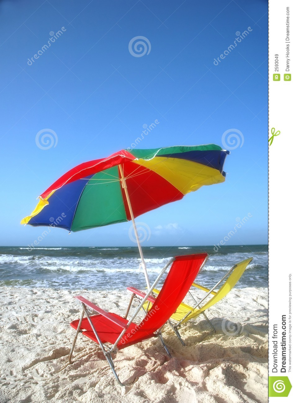 white sand beach with chairs stock image image of landscape sandy