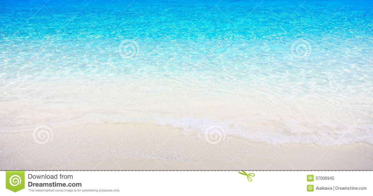 White sand beach with crystal clear sea