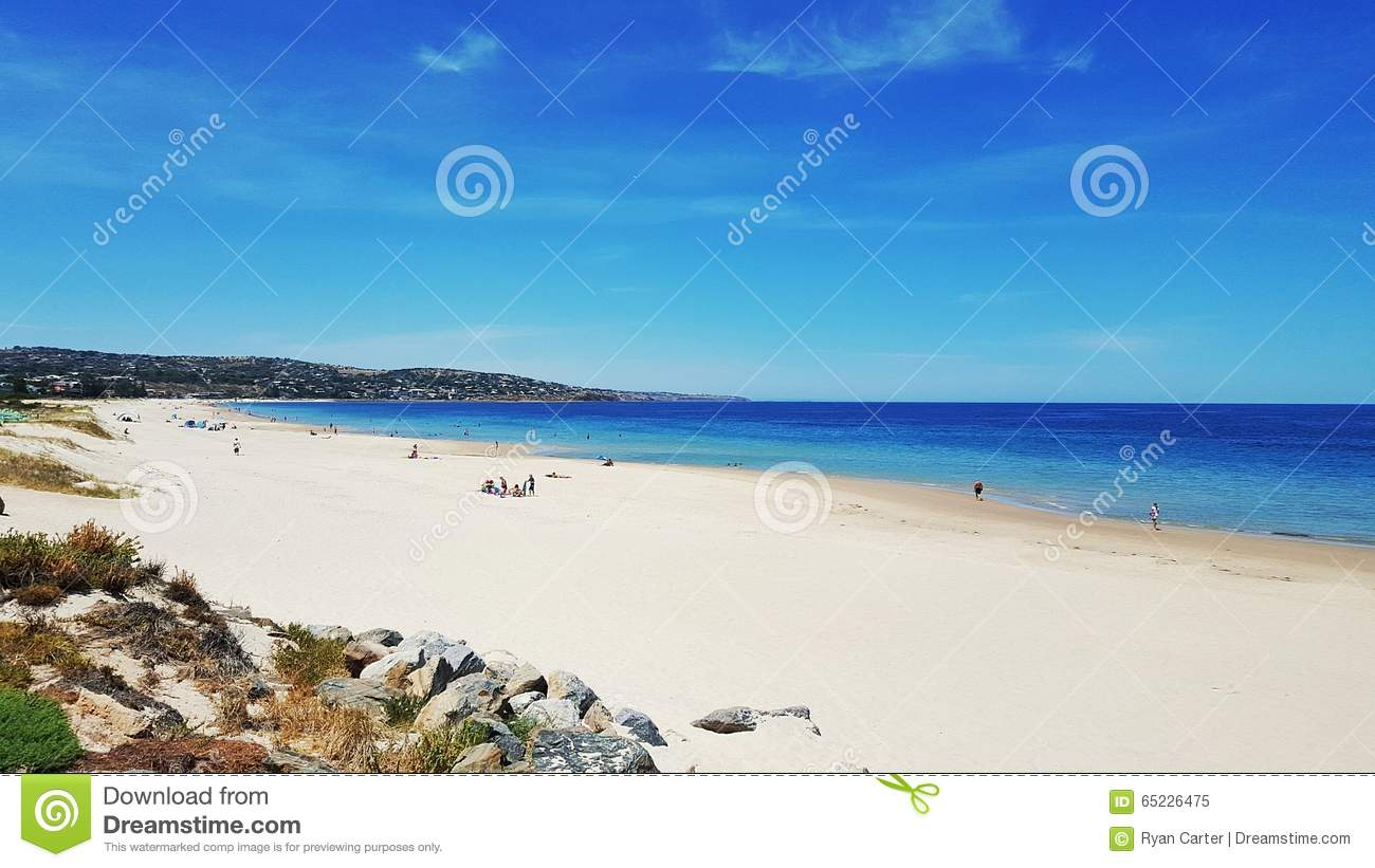 White sand beach on a summer day