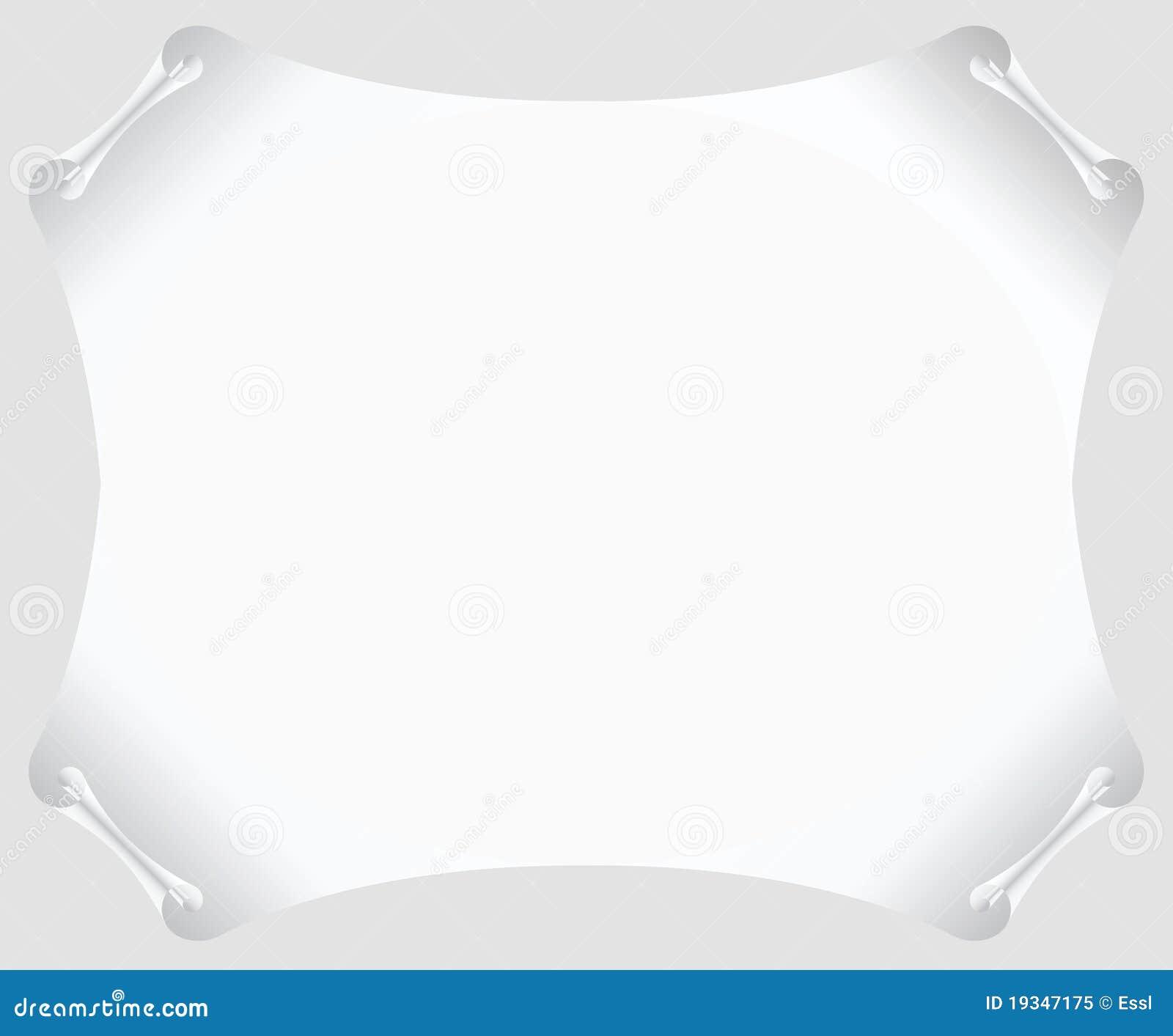 white scroll paper blank stock vector  illustration of