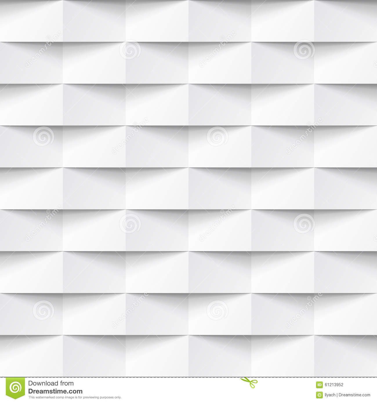 White Seamless Geometric Texture Stock Illustration