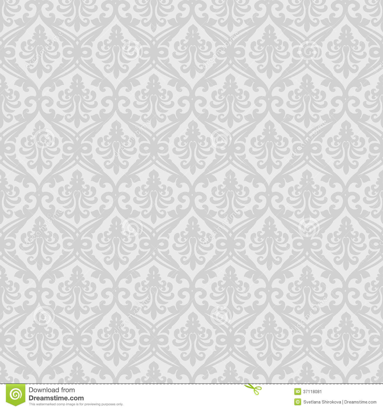 White Seamless Royal Background Stock Vector