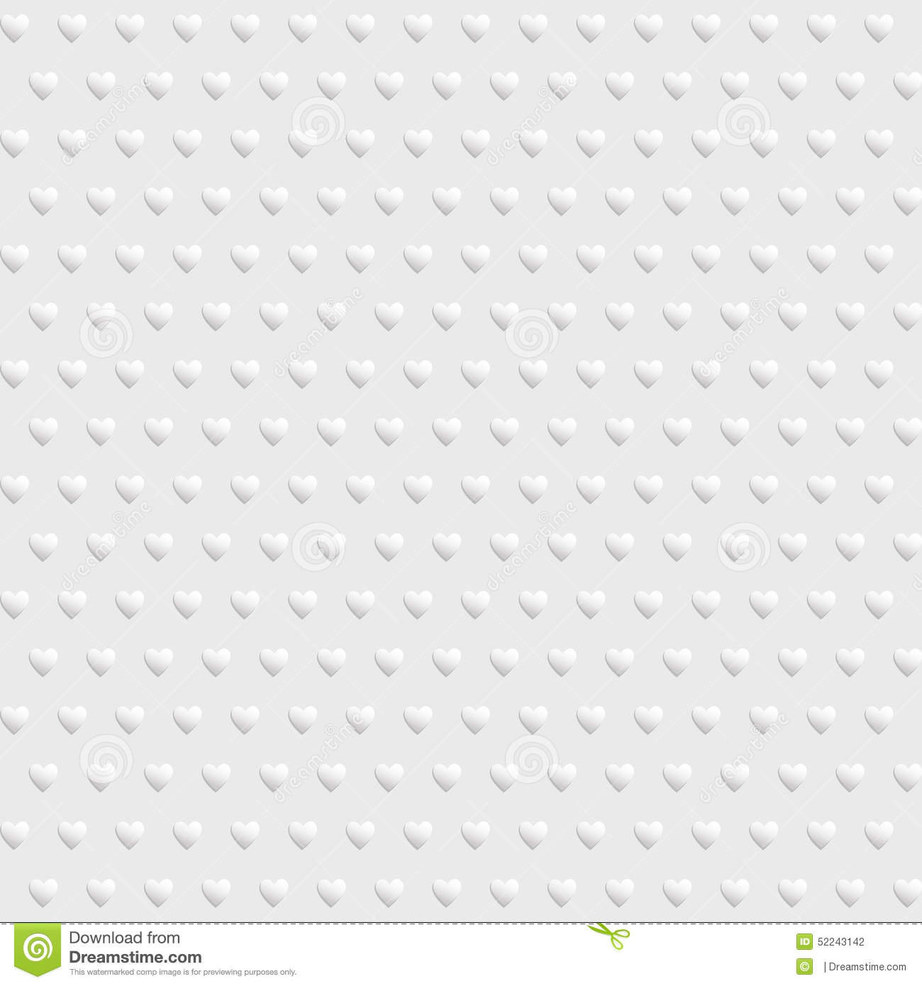 White seamless texture with hearts