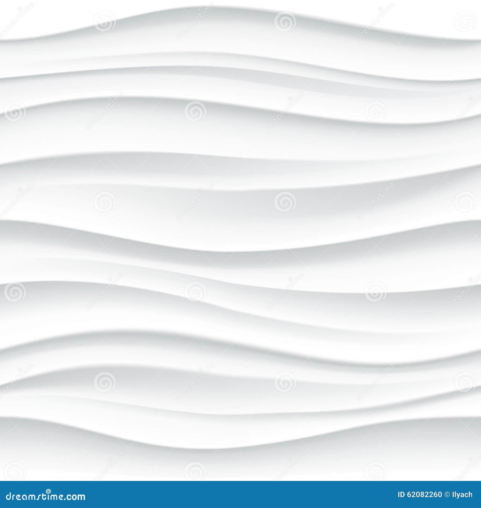 White Seamless Wavy Tile Textured Panel Stock Illustration