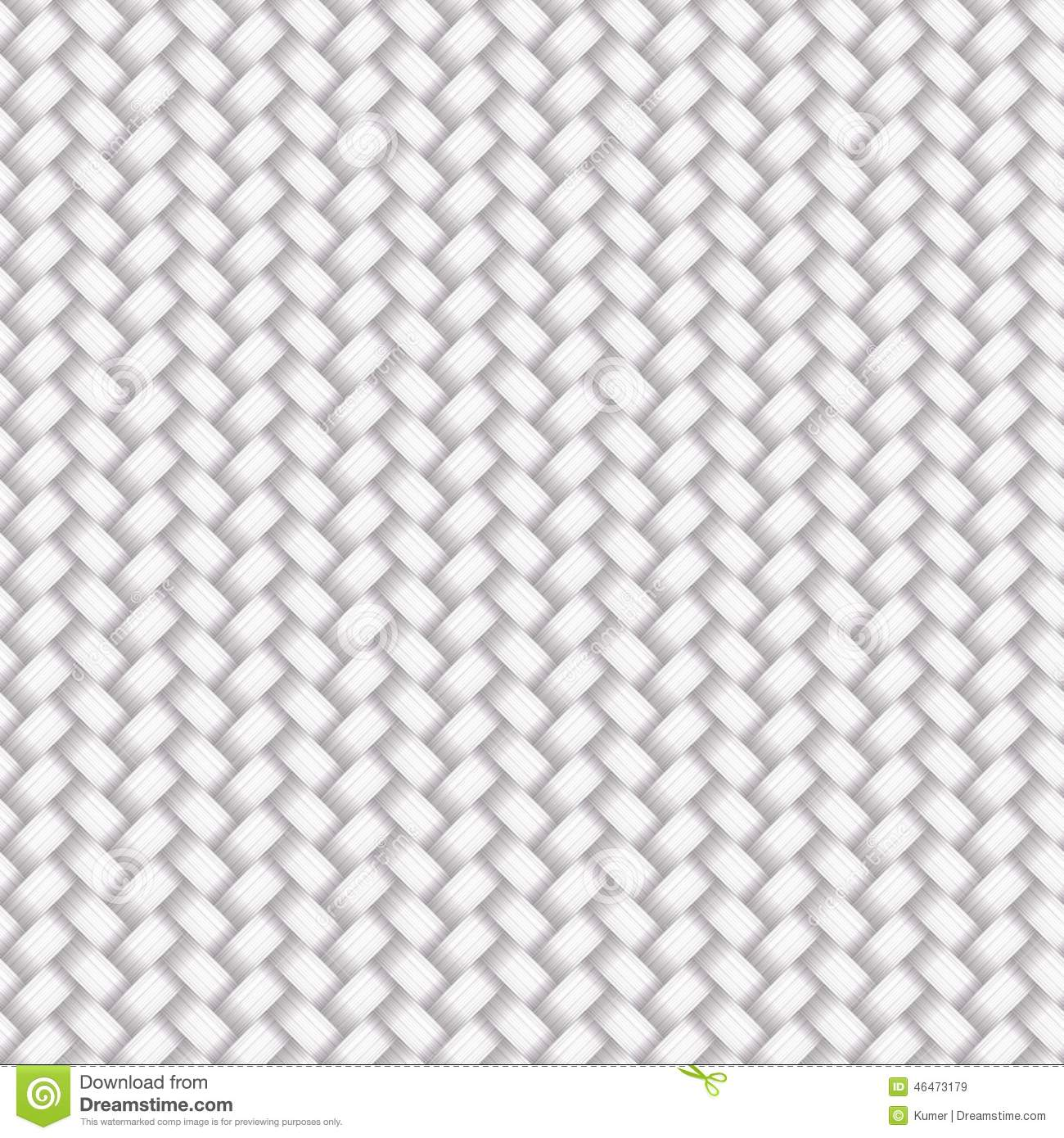 white seamless wicker pattern stock vector