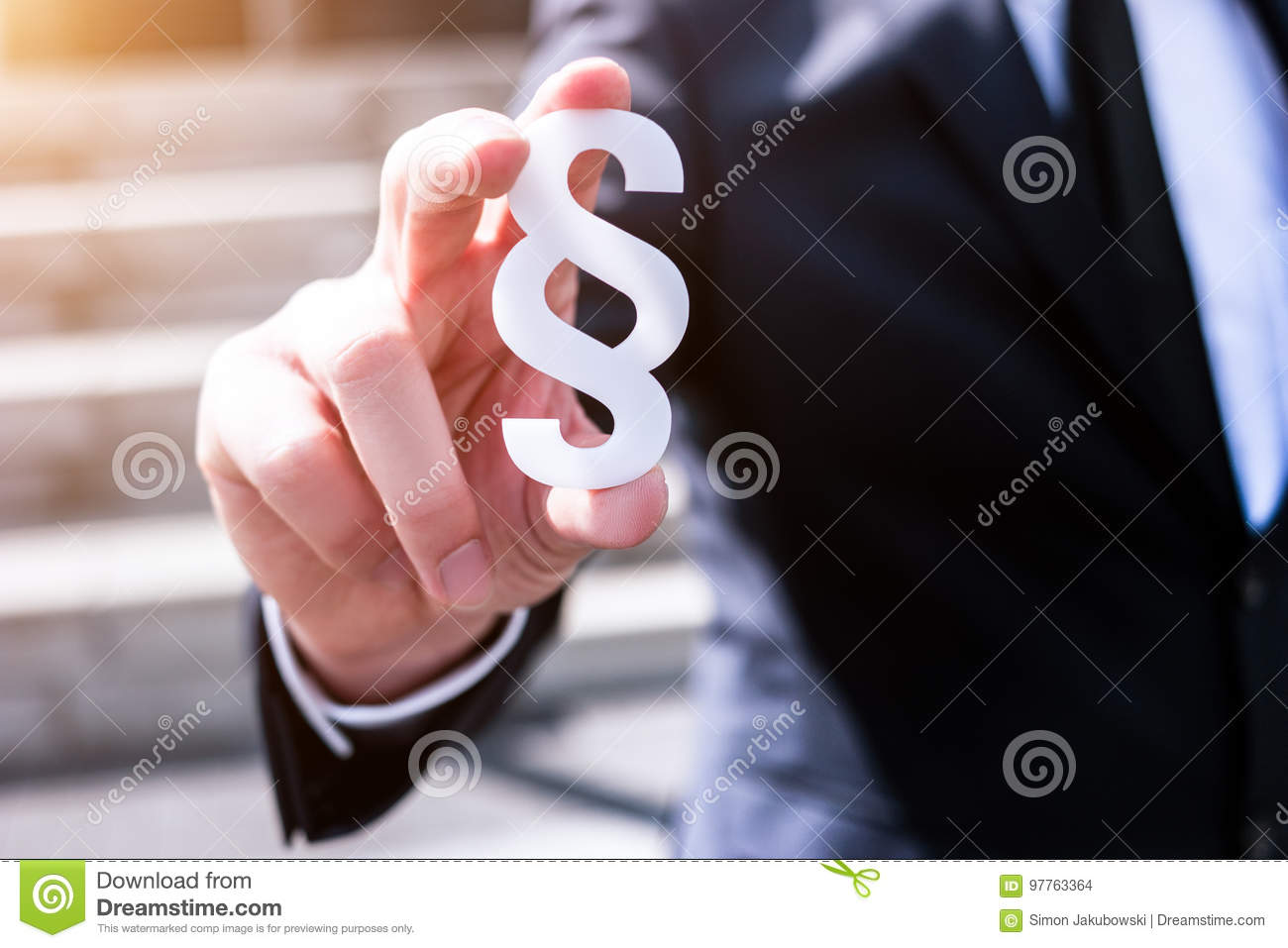 White section sign hold by business man
