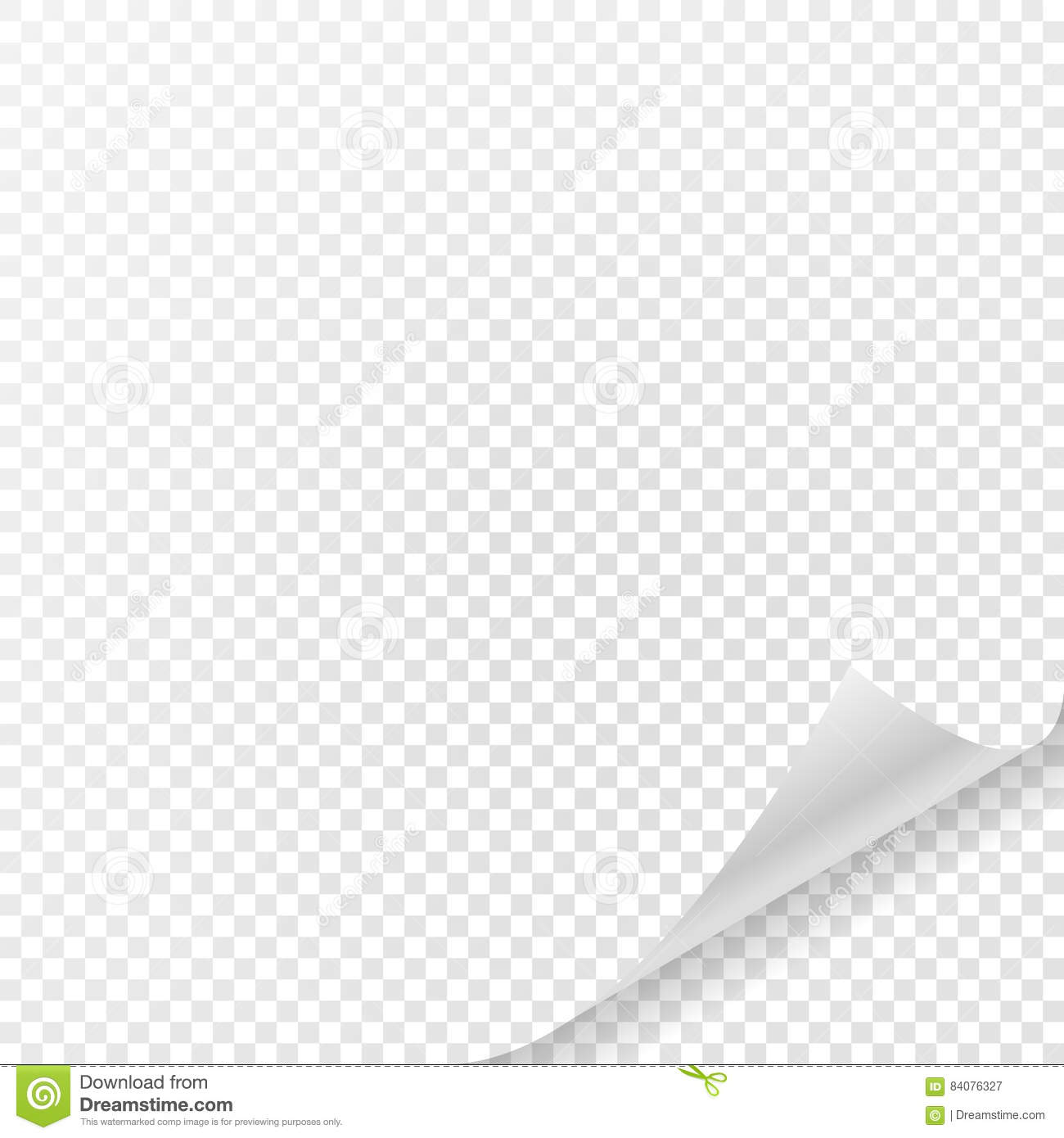 Background image transparency - White Sheet Of Paper With Curved Corner And With Shadow On Transparent Background Transparency Only In Format