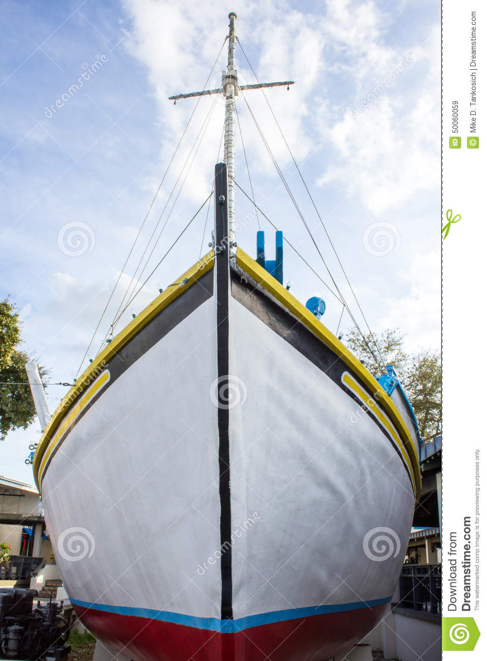 White Ship Front Stock Image Of Aquatic Sailing