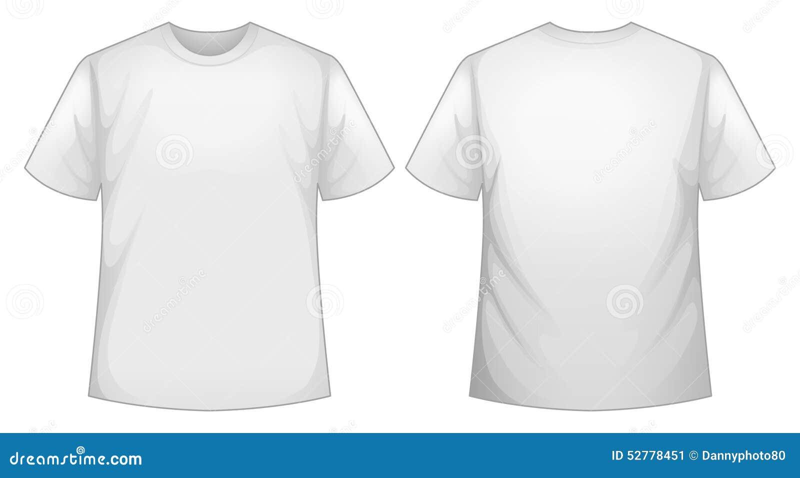 T shirt plain white back - White Shirt Stock Image