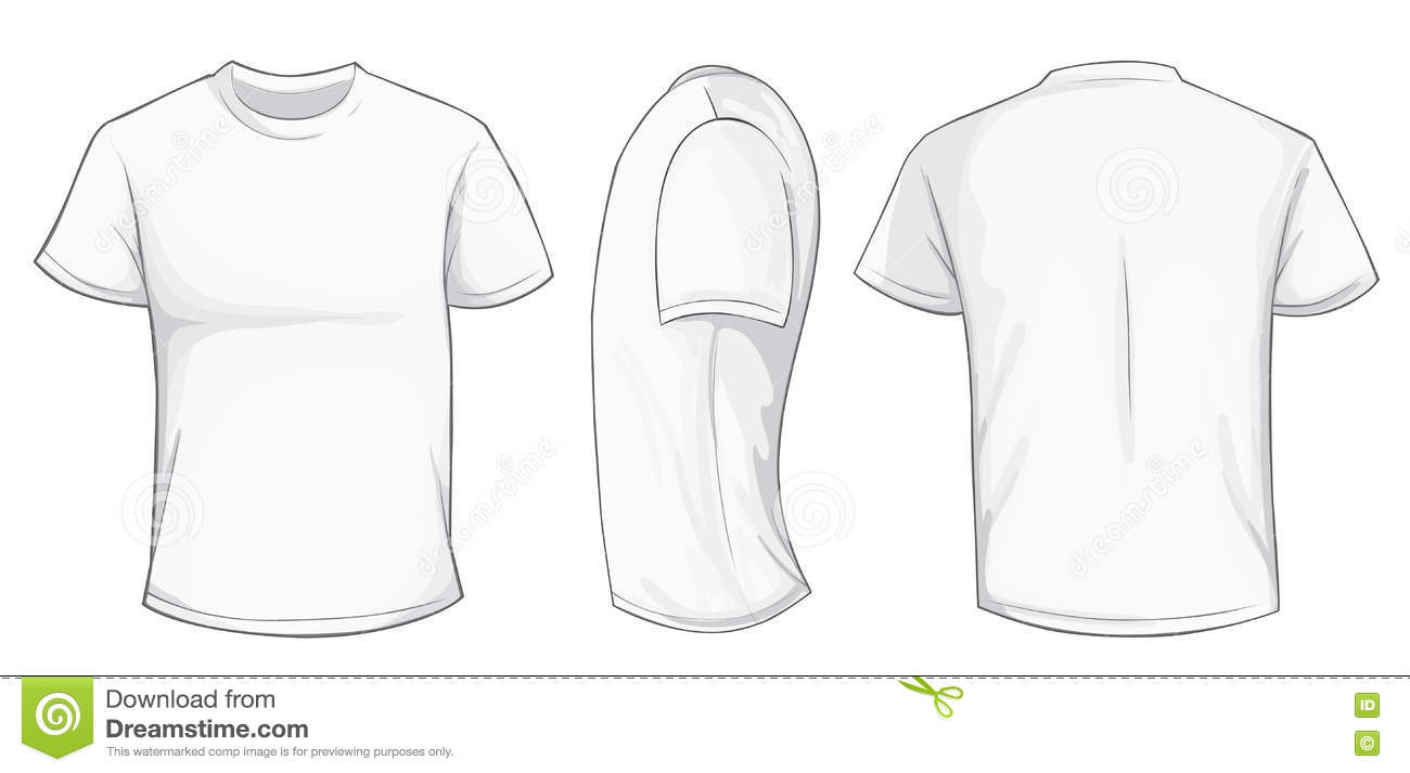 white shirt template stock vector  illustration of