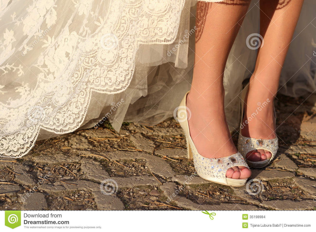 White shoes for wedding stock photo. Image of foot, pretty - 35198984