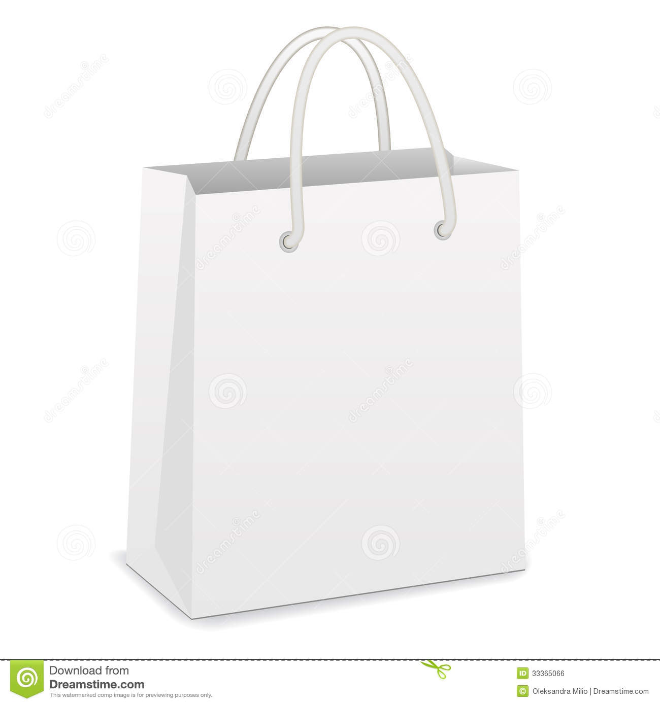 White Shopping Bag Royalty Free Stock Image - Image: 33365066