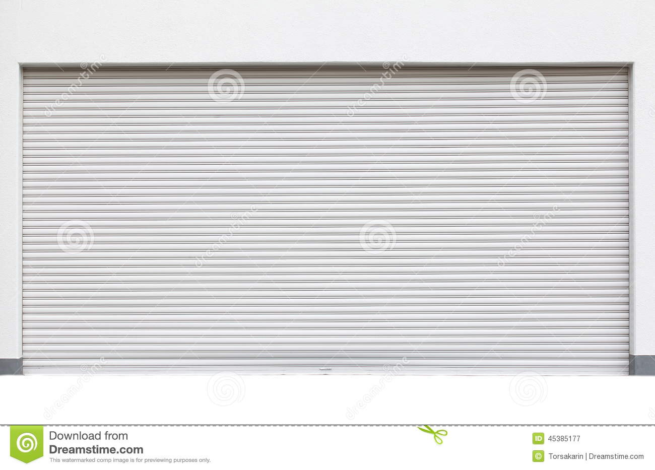 White shutter door Royalty Free Stock Photography