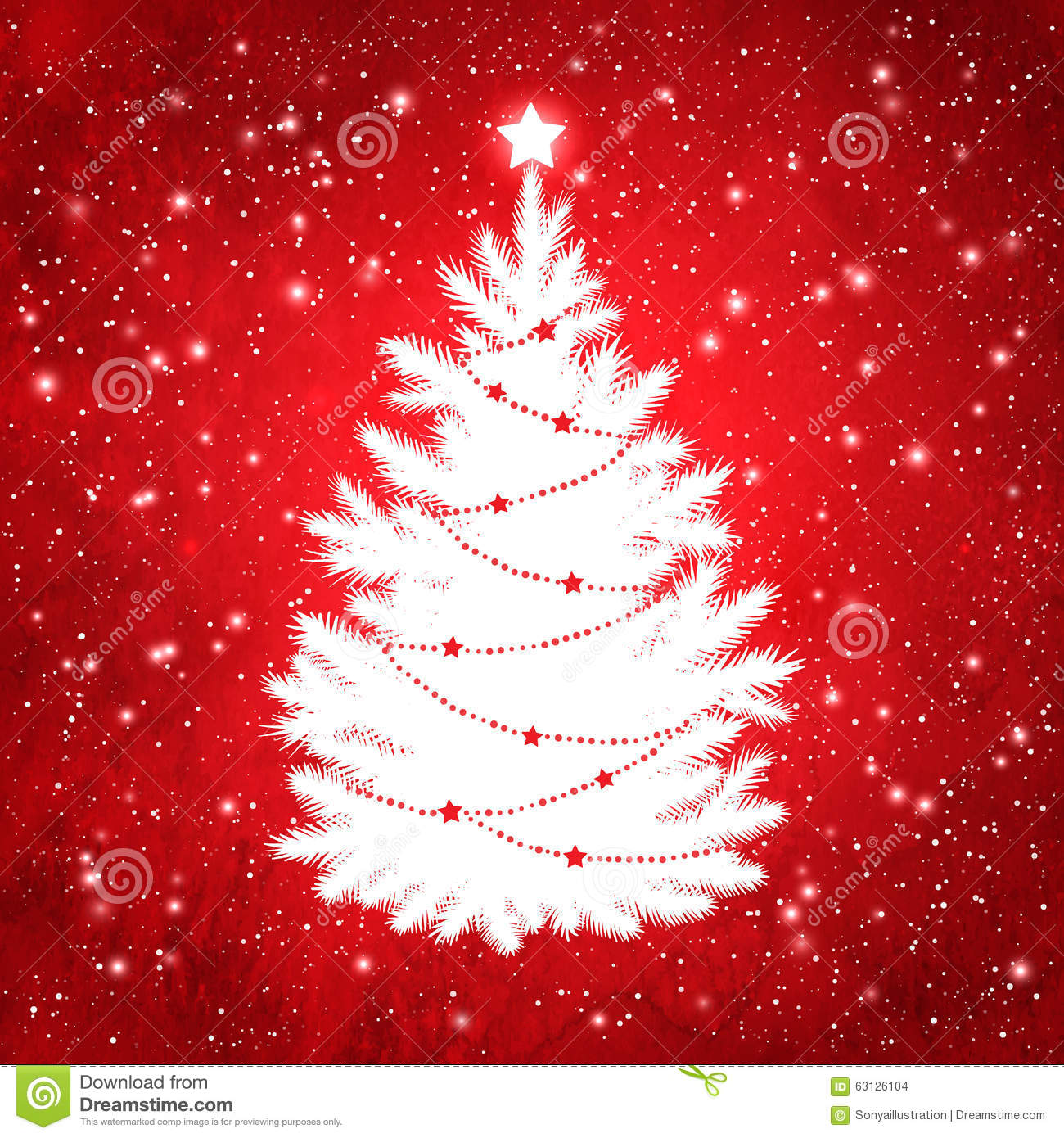 White Silhouette Of Christmas Tree Stock Vector - Image ... Red Christmas Tree White Background