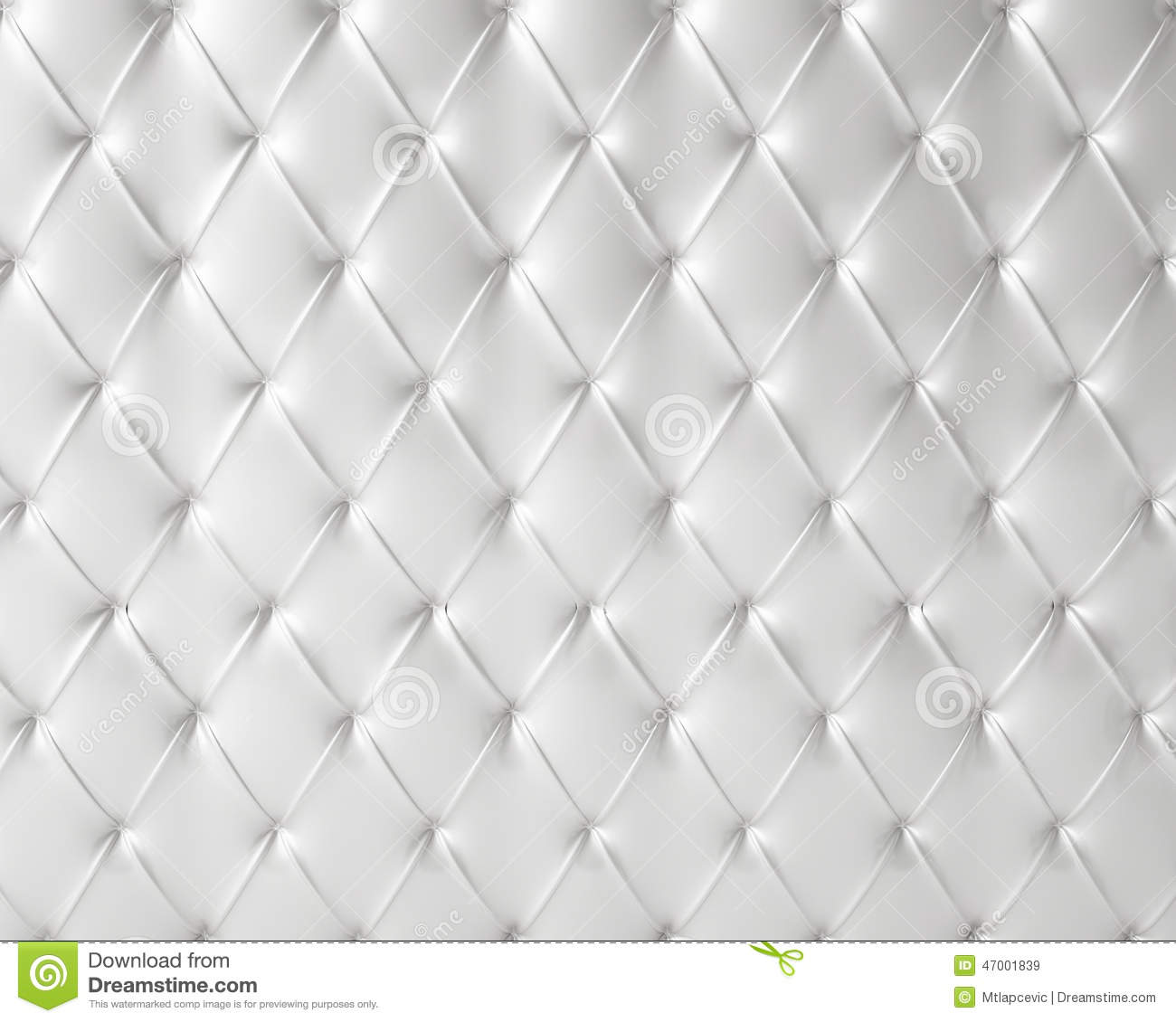 White Silky Luxury Buttoned Pattern Stock Illustration