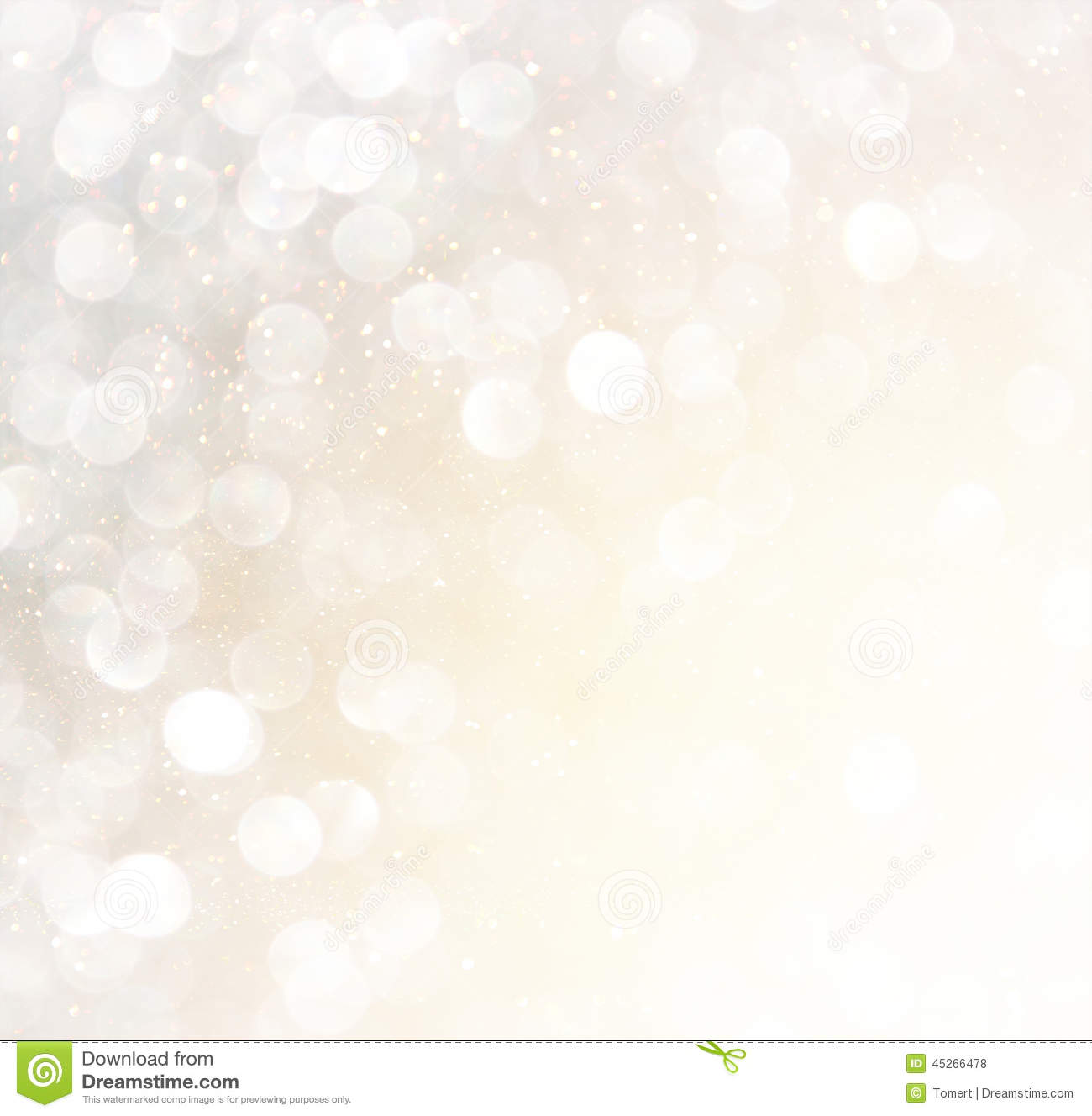 white silver gold abstract bokeh lights defocused background 45266478