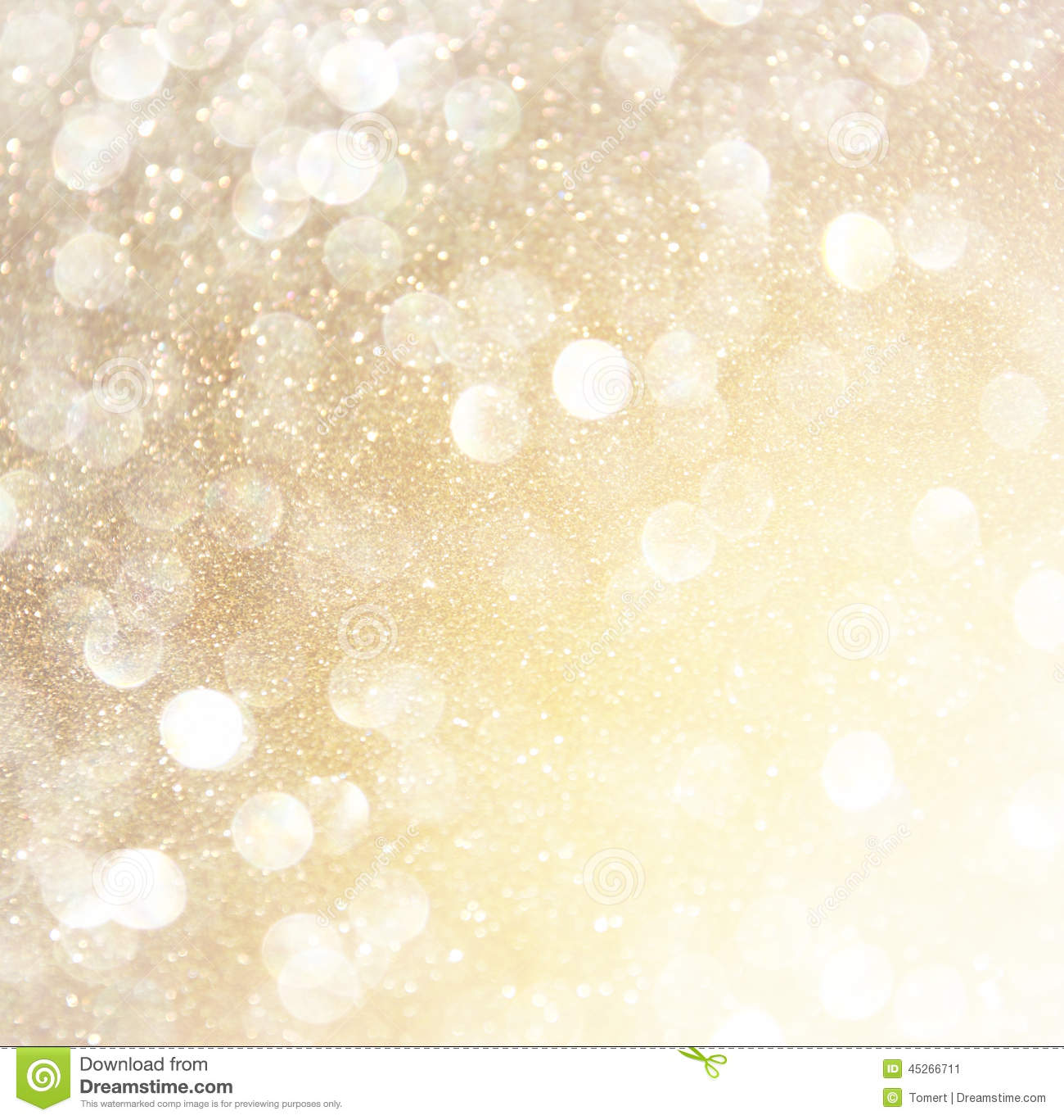 White Silver And Gold Abstract Bokeh Lights Defocused