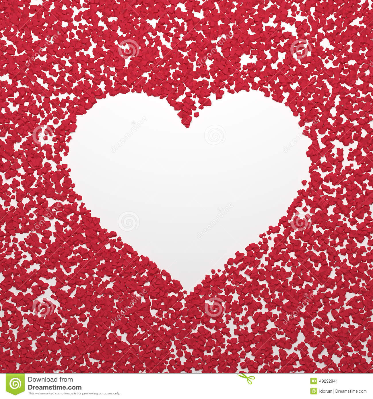 Valentines Day Background. Watercolor Simple Hearts Seamless ...