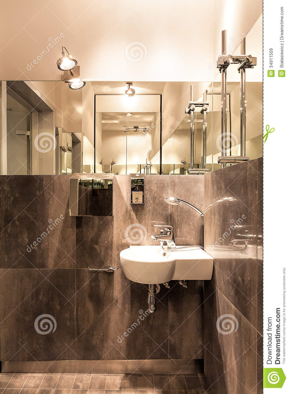 White sink in bathroom royalty free stock images image for Public bathroom sink
