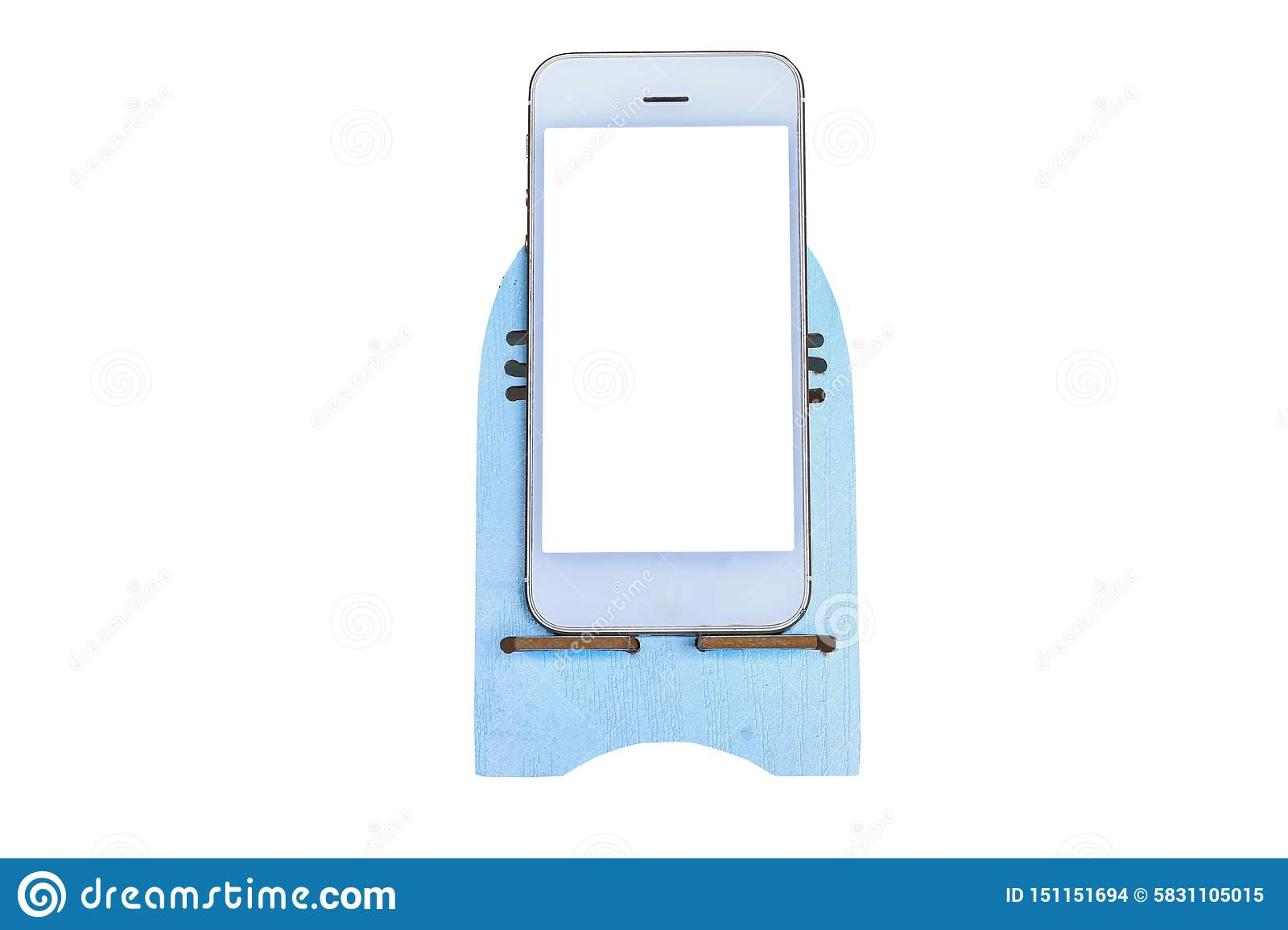 White smarthphone that isolated on a white background